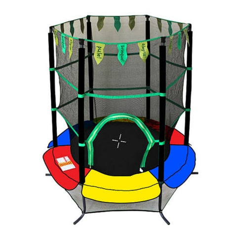 Exacme 55 inch Toddler Trampoline for Kids with Safety Enclosure Net 1 | The Trampoline Shop