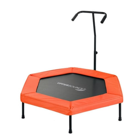 "Upper Bounce 50"" Hexagon Fitness Springless Trampoline with Hand Rail in Orange 1 