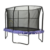 Jumpking Trampoline Huge Oval 8 x 12 FT With Safety Enclosure Net and American Stars Pad 2 | The Trampoline Shop