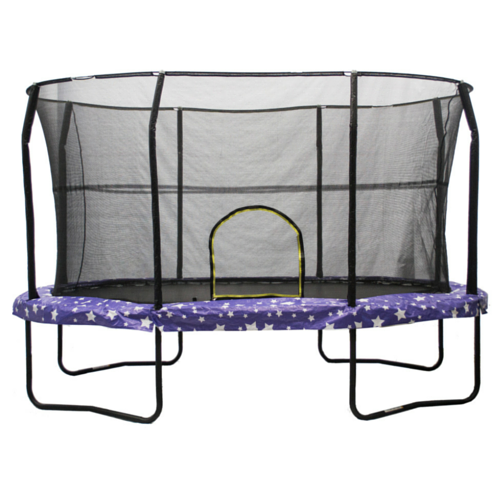 Jumpking Trampoline Huge Oval 8 x 12 FT With Safety Enclosure Net and American Stars Pad 1 | The Trampoline Shop