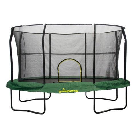 Jumpking Trampoline Huge Oval 8 x 12 FT With Safety Enclosure Net and Green Pad 1 | The Trampoline Shop