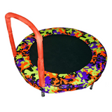 "Jumpking 48"" Kids Bouncer Trampoline in Camouflage Orange with Handles 