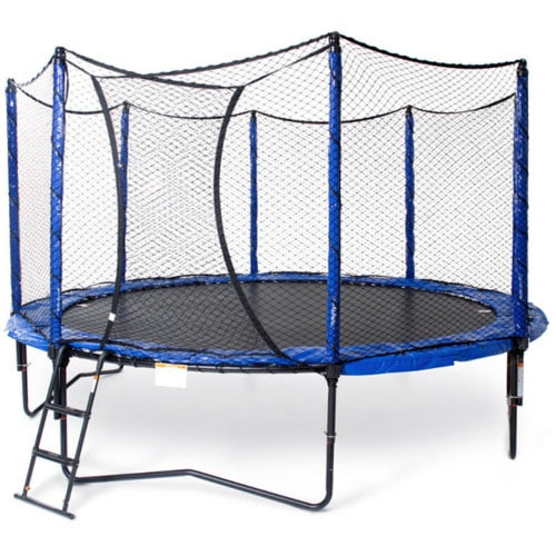 JumpSport 14FT StagedBounce Round Trampoline with Safety Enclosure Net 1 | The Trampoline Shop
