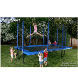 JumpSport Trampoline 10 X 17 FT Rectangle with Safety Enclosure Net 2 | The Trampoline Shop