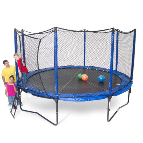 JumpSport Trampoline 14 FT Soft Bounce Round with Safety Enclosure Net 1 | The Trampoline Shop