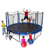 JumpSport 12 FT PowerBounce Round Trampoline with Safety Enclosure Net 4 | The Trampoline Shop