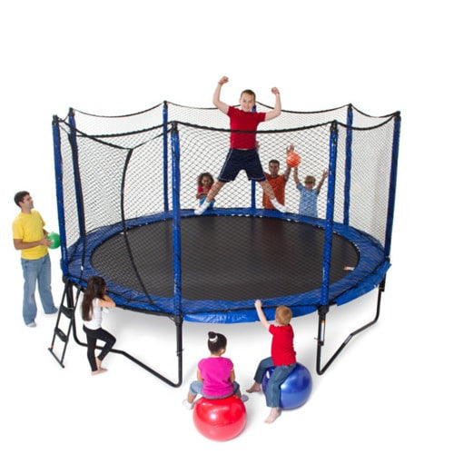 JumpSport Trampoline 12FT Round Staged Bounce with Enclosure Net Combo 1 | The Trampoline Shop