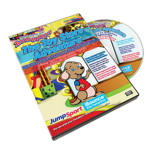 JumpSport® RompyRoo Toy Store Adventure DVD Trilingual w/hardcase - The Trampoline Shop - 1