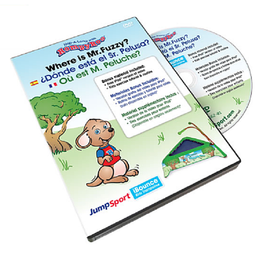 JumpSport® RompyRoo Where is Mr. Fuzzy? DVD Trilingual w/hardcase - The Trampoline Shop - 1