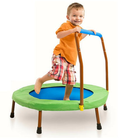 JumpSport iBounce Round Foldable Trampoline for Kids with DVD 1 | The Trampoline Shop