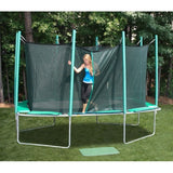 Kidwise Magic Circle 9 X 14 FT Rectagon Trampoline w/ Safety Net 3 | The Trampoline Shop