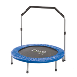 "Pure Fun 40"" Mini Rebounder Trampoline with Handrail 1 