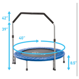 "Pure Fun 40"" Mini Rebounder Trampoline with Handrail 3 