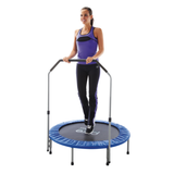 "Pure Fun 40"" Mini Rebounder Trampoline with Handrail 4 