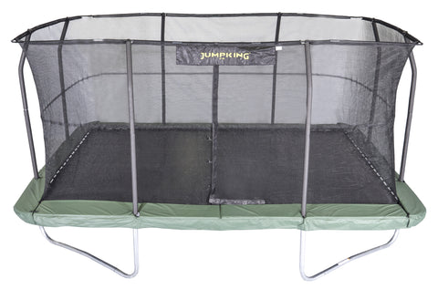 Jumpking 10x15 Rectangle Trampoline with Safety Enclosure Net 1 | The Trampoline Shop