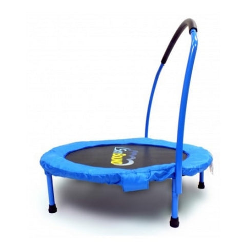 SkyBound 3FT Mini Trampoline Rebounder for Toddlers with Handle Bar - Blue | The Trampoline Shop