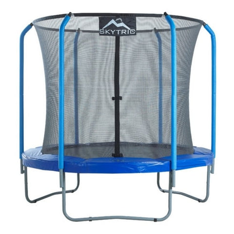 Skytric Round Trampoline With Safety Enclosure Net by Upper Bounce 8 Foot | The Trampoline Shop