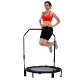 "Sunny Health & Fitness 40"" Foldable Trampoline with Stabilizing Bar"