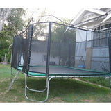 Texas Trampoline Standard Green 9 X 15 FT Rectangle with Enclosure Net 2 | The Trampoline Shop