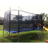 Texas Trampoline Star Blue Long 10 X 17 FT Rectangle with Enclosure 2 | The Trampoline Shop