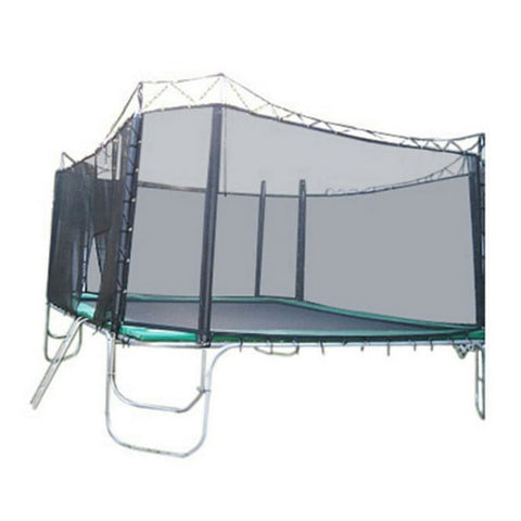 Texas Trampoline Extreme Green 15 X 17 FT Rectangle with Enclosure Net 1 | The Trampoline Shop