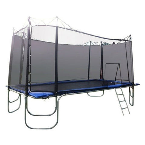 Texas Trampoline Competitor Blue 9 X 17 FT Rectangle with Enclosure 1 | The Trampoline Shop