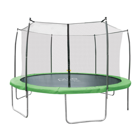 Pure Fun Dura-Bounce 14 FT Round Trampoline with Safety Enclosure Net 1 | The Trampoline Shop