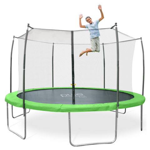 Pure Fun Dura-Bounce 12 FT Round Trampoline with Enclosure Net 1 | The Trampoline Shop