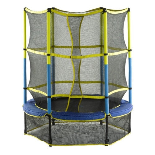 "Upper Bounce 55"" Kid Trampoline For Toddlers with Enclosure Set 1 