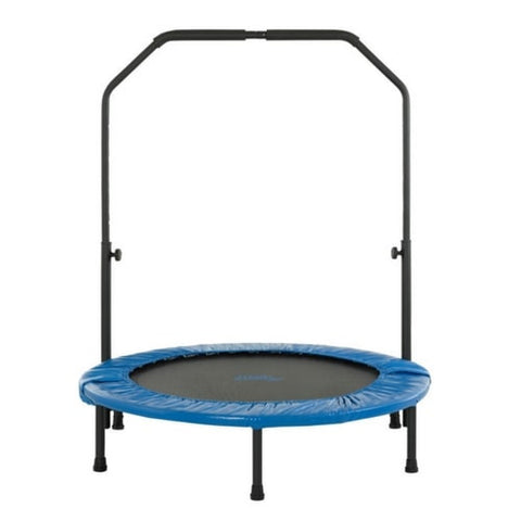 Upper Bounce Mini Foldable Rebounder Fitness Trampoline with Handrail 40"