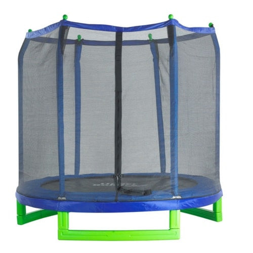 Upper Bounce Kids Round Trampoline With Full Safety Enclosure Net 7FT 1 | THE TRAMPOLINE SHOP