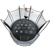 Vuly 2 Trampoline 8 FT Bouncy and Round with Safety Enclosure Net 3 | The Trampoline Shop