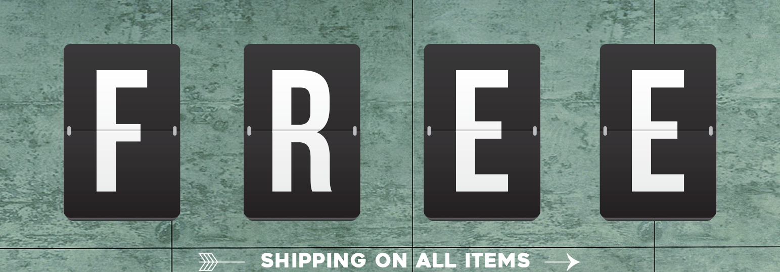 Free Shipping On All Items