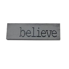 BELIEVE WOOD SIGN - www.zenbetterliving.com