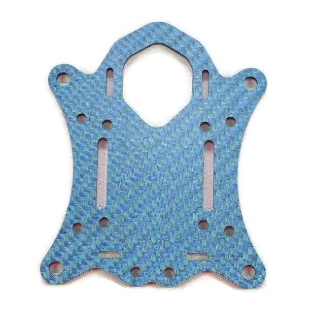 SCX Bottom Center Plate- Blue