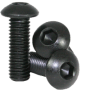 8mm - M3 Black Anodized Metal Bolts (10 pieces)