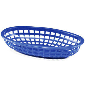 Blue Plastic Oval Food Baskets - Lemonade Occasions