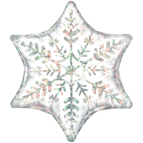 "22"" Dazzling Snowflake Supershape - Qualatex"