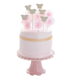 Pink Tutu and Pom Pom Cake Toppers - Lemonade Occasions
