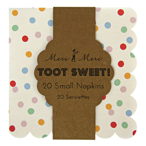 Toot Sweet Spotty Small Napkin - Meri Meri