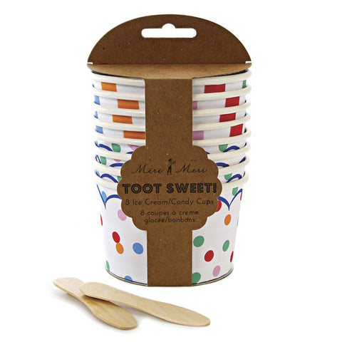 Toot Sweet Spotty Ice Cream Tubs - Meri Meri
