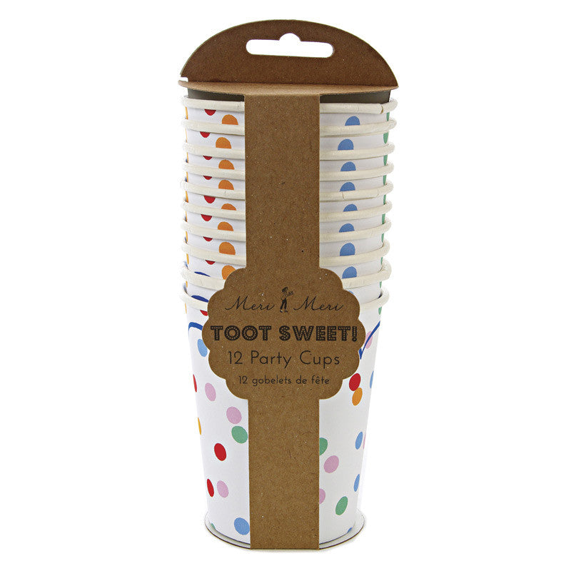 Toot Sweet Spotty Party Cups - Meri Meri