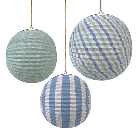 Paper Globe Pastel Blue Party Decorations - Meri Meri