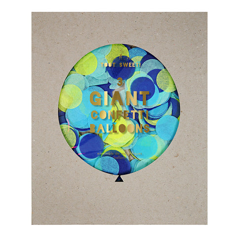 Blue Giant Confetti Balloon Kit - Meri Meri