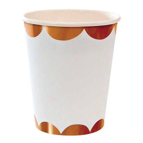 Rose Gold Scalloped Party Cup - Meri Meri