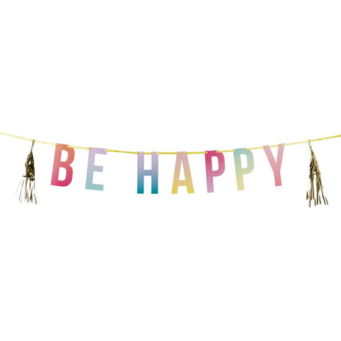 Be Happy Party Tassel Garland - Lemonade Occasions