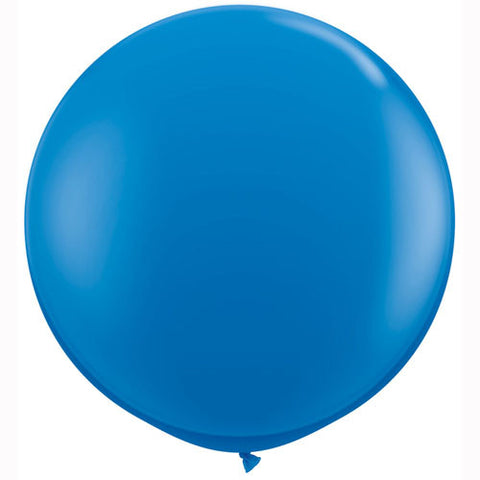 "36"" Big and Round Blue Balloon - Lemonade Occasions"