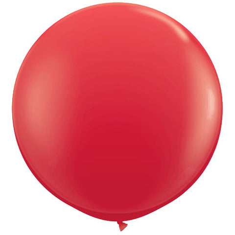 "36"" Big and Round Red Balloon - Lemonade Occasions"