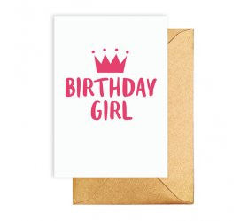 Birthday Girl Pink Crown Card - Lemonade Occasions