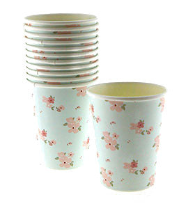 Blue Floral Party Cup - Lemonade Occasions